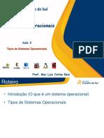 3 - Tipos de Sistemas Operacionais (1)