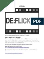De Flicker Manual