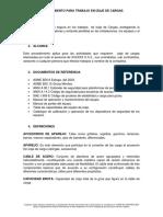 BORRADOR - PROCEDIMIENTO PARA TRABAJO EN IZAJE DE CARGAS.docx