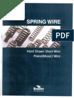 Comparison of spring wire.