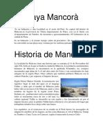 Playa Mancorá