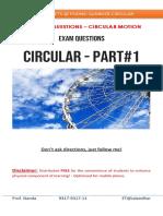 Assignment Circular Motion