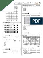 1ª P.D - 2012 (Mat. - 8° Ano - BPW)