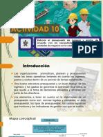 Actividad de Aprendizaje 10 Presupuesto