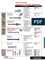 Mechanical Anchoring Systems Section