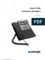 Manual Phone - AASTRA 7444 Ip