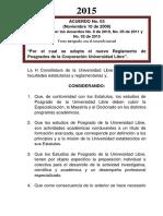 Acuerdo 03-2009 Reglamento de Posgrados