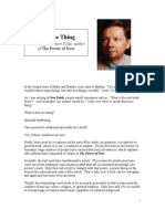 Eckhart Tolle - The One Thing