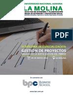 Brochure IV DDE Gestión de Proyectos 2019