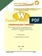 MODELO DE GESTION DEL  LIDERAZGO  PARA EL INCREMENTO DE LA PRODUCTIVIDAD EN LAS EMPRESAS DE ALIMENTOS EN EL DISTRITO DE LINCE-LIMA 2015