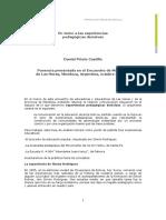 PRIETO CASTILLO, Daniel - En Torno a Las Experiencias Pedagógicas Decisivas