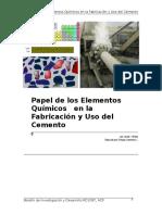Influencias de Los Elementos Químicos en La Elaboracion de Cemento