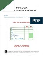 Formato de Evaluación Del Stroop