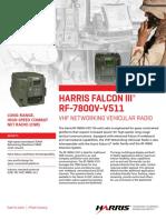 Rf 7800v 51x Vhf Networking Vehicular Radio