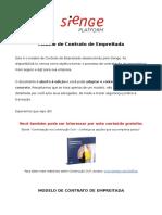 Modelo de Contrato de Empreitada Sienge Platform