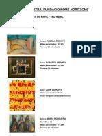 Cuadros puestos a la venta por la Fundació Nous Horitzons, de ICV