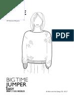 Big Time Jumper Pattern BTISWE01 UK