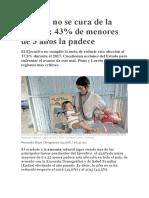 El Perú No Se Cura de La Anemia