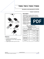 Sensitive and standard 8 A SCRs tyn608