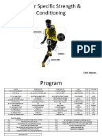 Soccer Specific Strength Conditioning Program Ppt Final