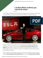 Un Email Filtrado de Elon Musk Confirma Que Tesla Rompió Su Récord de Ventas