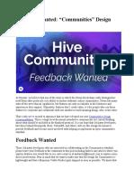 Hive Communities