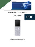 Wpu7800 Manual