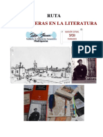 Ruta Madrigueras en La Literatura. 2019