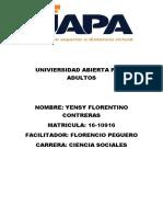 Tarea de Sociologia Yensy Florentino Contreras