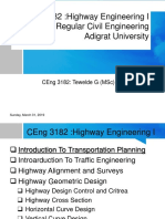 Highways Engineering I