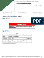 Ajuste de Limit Switch de Luz de Parada Cat-988k