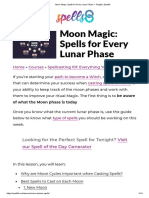 Moon Magic Spells for Every Lunar Phase