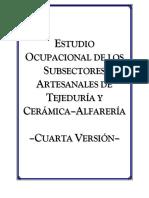 estudio ocupacional sectores artesanaes tejeduria