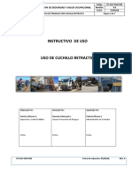 I-sso-mb-009 - Instructivo de Capacitación - Cuchillo Retractil