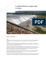 Orani Rebalsa e Hidroeléctrica Asegura Que No Representa Riesgo