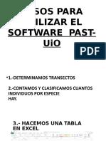 Pasos Para Utilizar El Software Past-uio