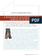 Chesbrough h and j Spohrer a Research Manifesto for Services Science 2006 1