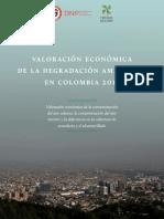 Valoración Económica de La Degradación Ambiental