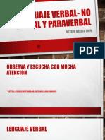 Lenguaje Verbal- No Verbal y Paraverbal