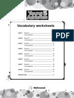 YA5 Vocabulary