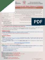 Appel à Candidature Master ST-2019-2020