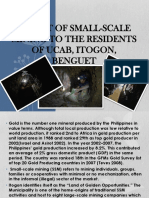 Impact of Small-scale Mining to the Residents