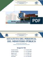 Presentación Grupo 04 Estatuto Del Personal Del MP