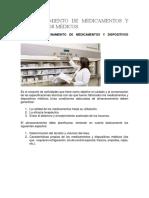 Almacenamiento de Medicamentos y Dispositivos Médicos