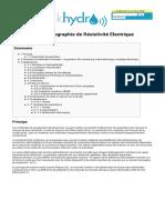Wikigeotech Tomographie de Résistivité Electrique