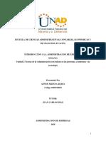 Fase 3 - Ensayo Teorías de La Administración de La Unidad 2