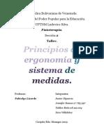 Principios de Ergonomía y Sistema Internacional de Medidas.