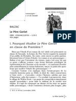 Fiche Pedagogique Le Pere Goriot