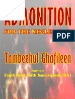 Tambihul Ghaafileen Admonition For the Neglectful