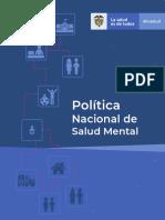 Politica Nacional Salud Mental